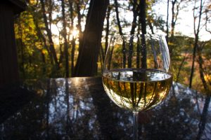 wine on the deck